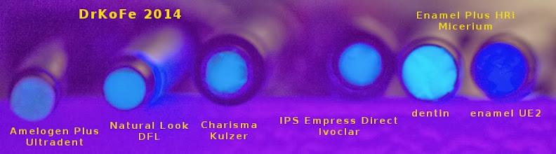Photo: Amelogen Plus (Ultradent Inc), Natural Look (DFL), Charisma (Kulzer), IPS Empress Direct (Ivoclar), Enamel Plus HRi (Micerium)