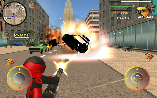 Stickman Rope Hero 2 screenshot