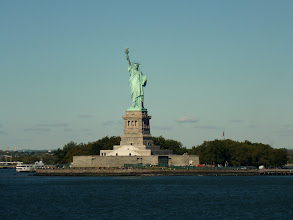 Photo: Sideview of Ms. Liberty.
