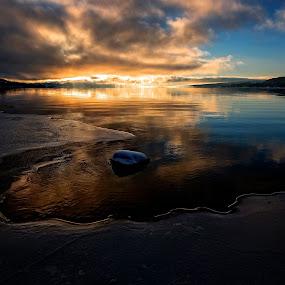 Just before sunset  by Svein Hurum - Landscapes Sunsets & Sunrises ( norway vinter )