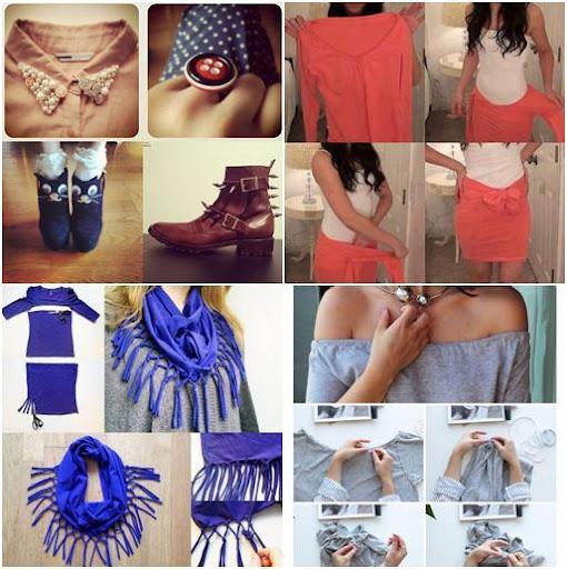 DIYのファッションの服のアイデア