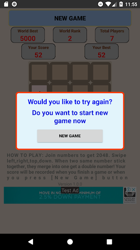 Game 2048 King screenshots 7