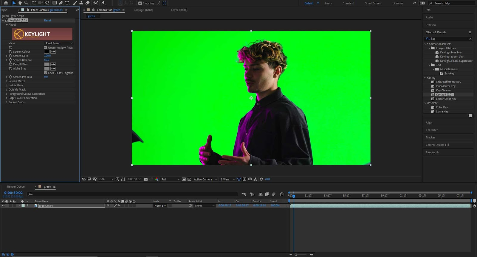 Remove Green Screen in After Effects