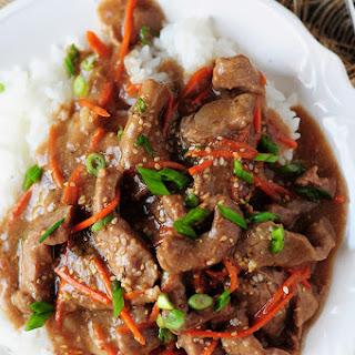 Gluten-Free Mongolian Beef Recipe In A Slow Cooker.