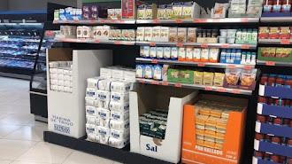 Lineal de Mercadona donde se vende el bicarbonato de sodio.