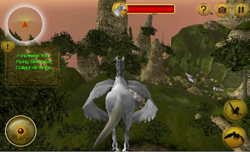 Létající kůň extrémní jízdě - náhled
