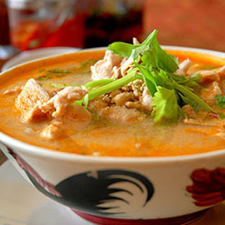 Thai Chicken Soup with Coconut Milk (Tom Ka Gai).