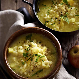 Celery Root and Cheddar Soup.