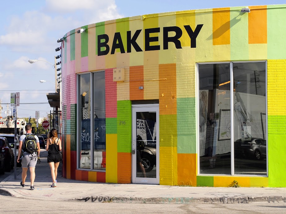 A colorful bakery in Wynnwood District