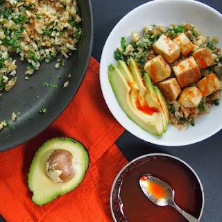 Cauliflower Rice and Tofu Bowl with Sriracha-Lime Sauce