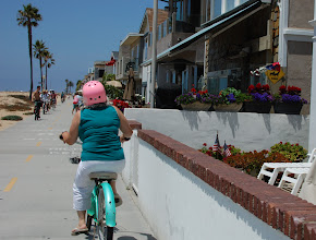 Photo: a bike ride on the boardwalk justifies those burgers we had at lunch, right?