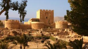 Vista del Conjunto Monumental de la Alcazaba.