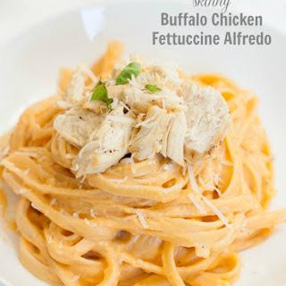 Skinny Buffalo Chicken Fettuccine Alfredo
