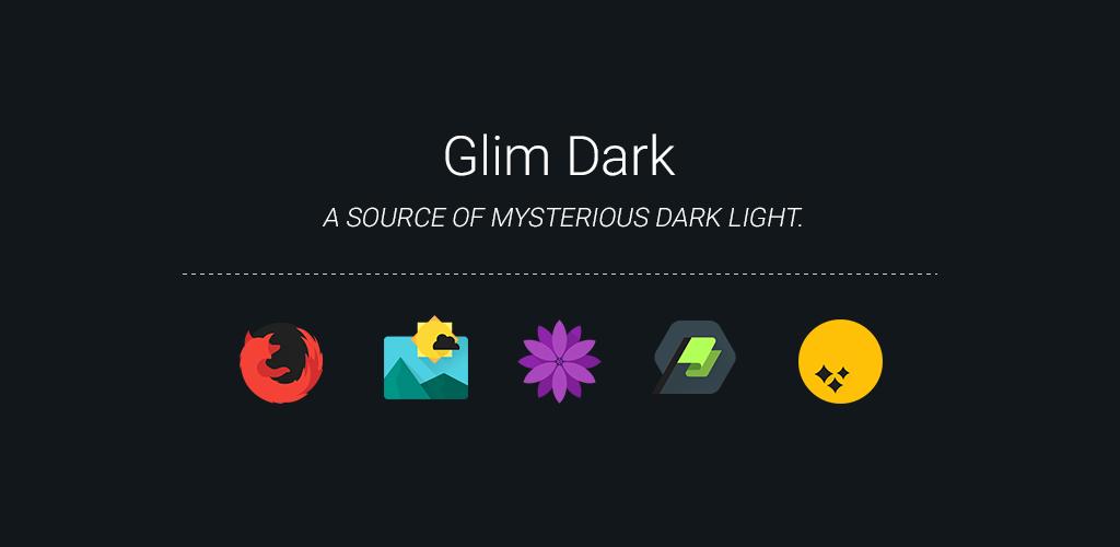Descargar Glim Dark Free Icon Pack 700 Android Apk Com