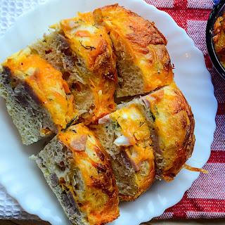 Ham & Cheddar Egg Casserole
