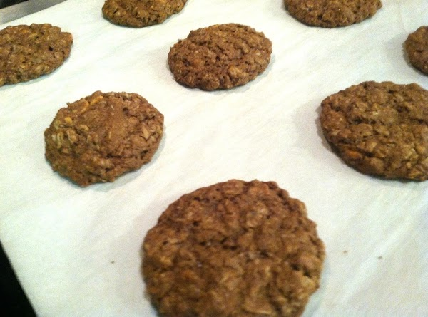 Drop by tablespoons or use a dough scoop on a greased cookie sheet or...