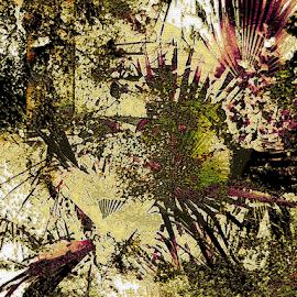 Wild Plants by Edward Gold - Digital Art Abstract ( digital photography, abstract plants, abstract art, green plants, browns, digital art, yellows,  )