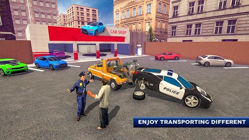 Police Tow Truck Driving Car Transporter 1.5 Screenshots 4