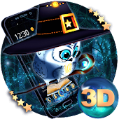 Cute Magic Owl 3D Theme