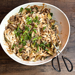 Peanut-Sesame Steak and Noodles