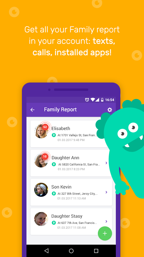 Kidgy - Parental Control & Family Locator App- screenshot