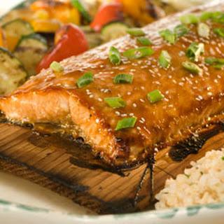 Cedar Plank Glazed Sesame Salmon