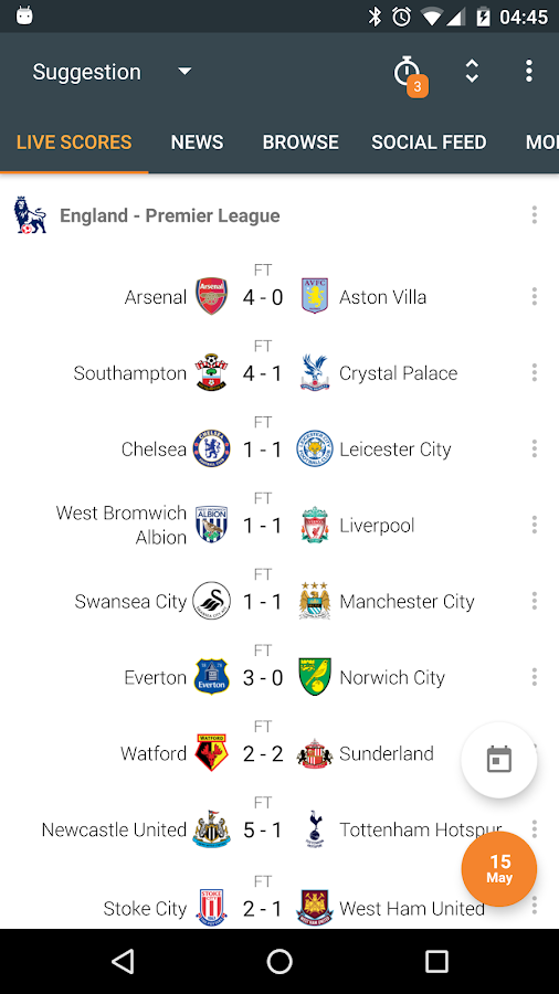 Super Scores - Live Scores- screenshot