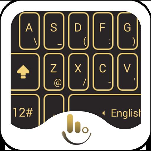 TouchPal Black Gold Theme
