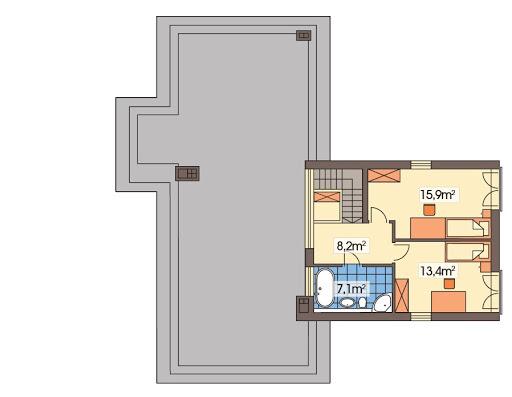 Mango 2 wersja B - Rzut piętra