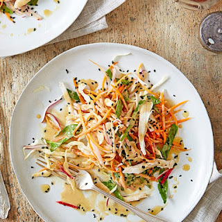 Shredded Veg and Chicken Salad with Japanese Sesame Dressing Recipe