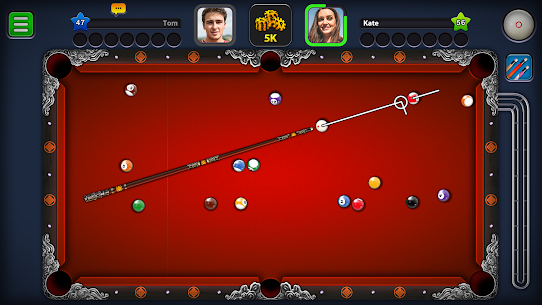 8 Ball Pool Mod Apk 5.2.1 (Long Lines + Stick Guideline + No Ads) 2