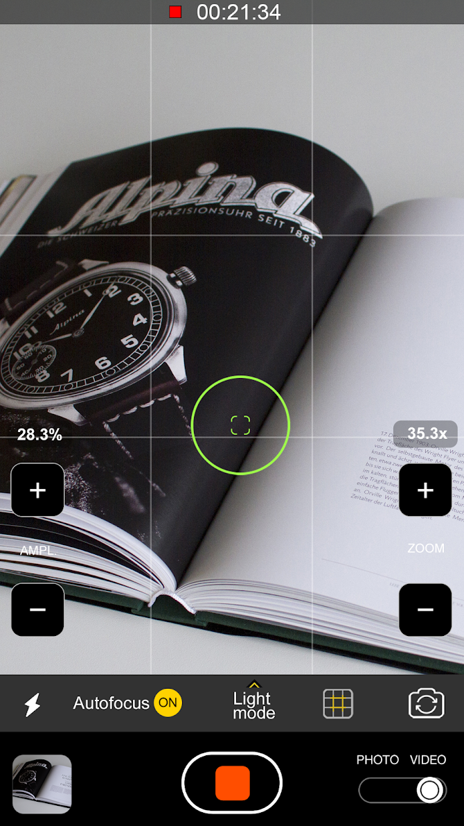 Pocket Eyes 35x zoom Photo & Video Magnifier Android 8