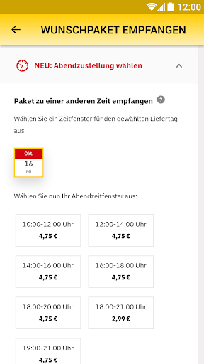 DHL Paket screenshot 4