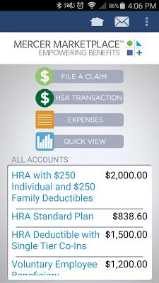 Mercer Marketplace Accounts - screenshot