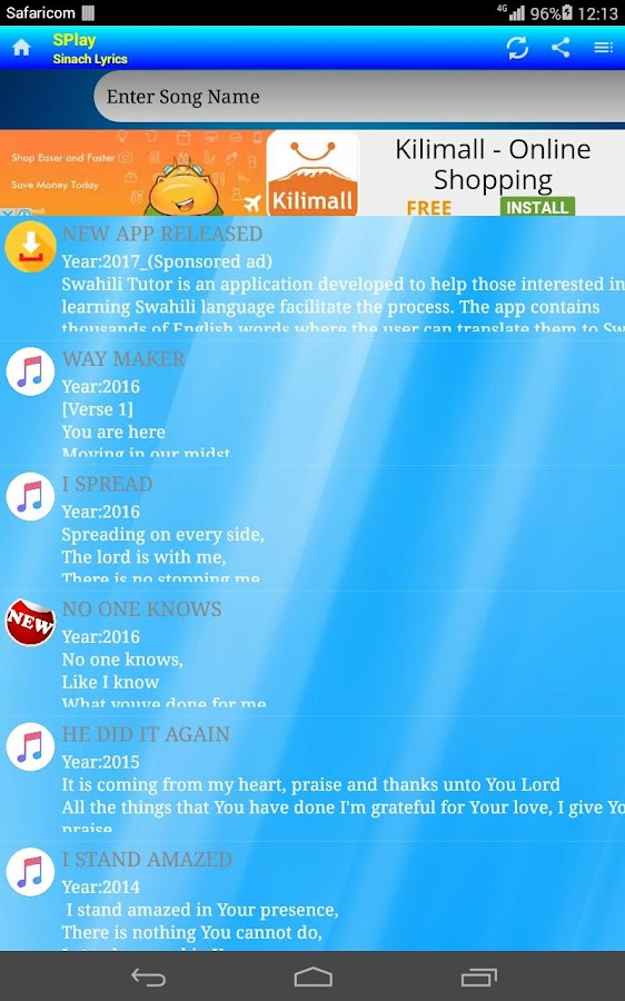 Lyric money maker lyrics : SPlay - Sinach lyrics - Android Apps on Google Play