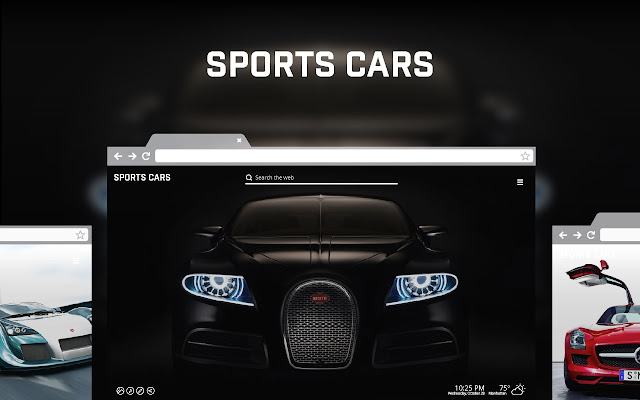 Sports Cars New Tab chrome extension