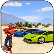 Hero Spiderman and Superman Car Game