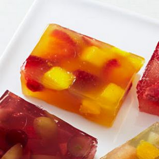Mango-Strawberry Jello Jigglers