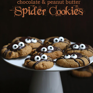 Chocolate Peanut Butter Spider Cookies.