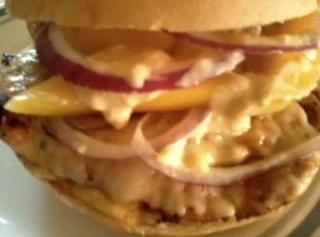 Chicken, Asiago & Spicy Mango Mayo Sandwich Recipe