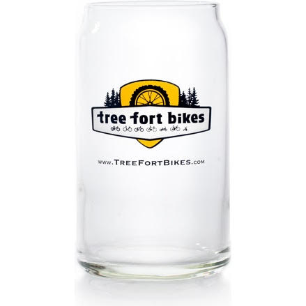 Tree Fort Bikes Beer Can Glass