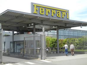 Photo: The entrance to the Ferrari plant.
