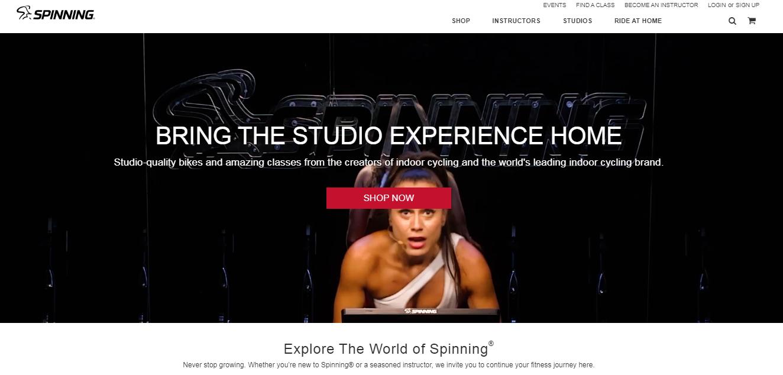 Spinning Landing Page