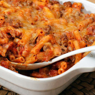 Tex-Mex Macaroni and Ground Beef Casserole.