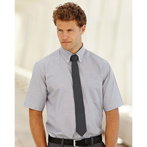 Fruit of the Loom Short Sleeve Oxford Work Shirt