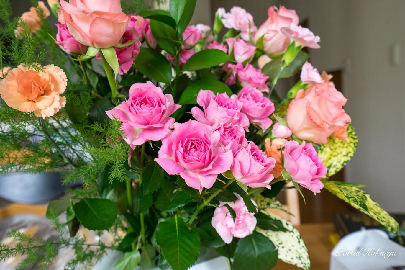母の日に贈られた花束