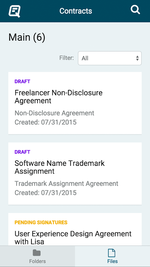 Quickly Legal - Contracts- screenshot
