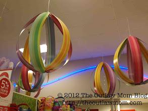 Photo: Pretty eggs ceiling display.