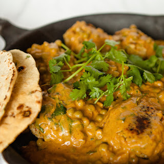 Vegan Chickpea Meatballs in Creamy Curry Cashew Sauce