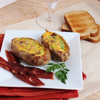 Bacon and Egg Stuffed Potatoes
